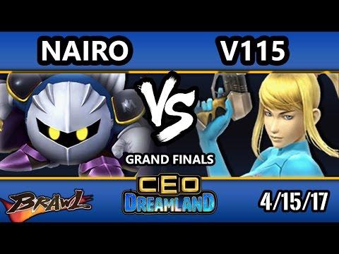 CEO Dreamland 2017 Brawl - NRG   Nairo (Meta Knight) Vs. V115 (ZSS) SSBB Grand Finals