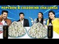 POPCORN AND COLD DRINK CHALLENGE   POPCORN EATING COMPETITION   पॉपकॉर्न ईटिंग चॅलेंज