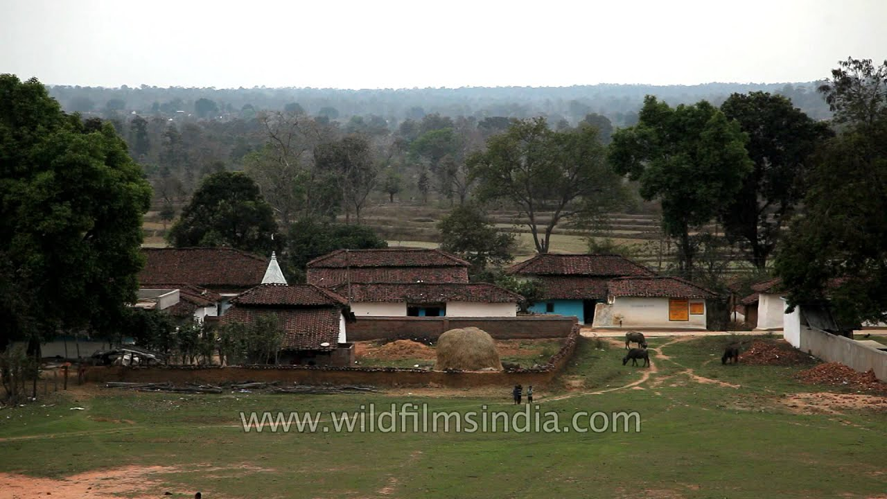Narna Village of the Gond People in Madhya Pradesh