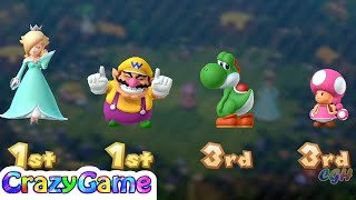 Mario Party 10 Coin Challenge - Yoshi v Toadette v Rosalina v Wario Master Difficult |CRAZYGAMINGHUB