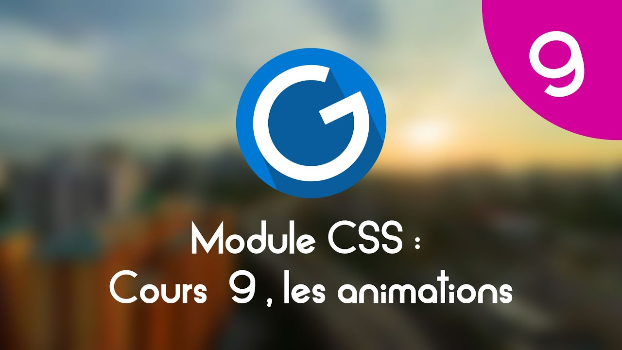 Download Formation IMM - Module CSS : Cours tuto 9 , les animations