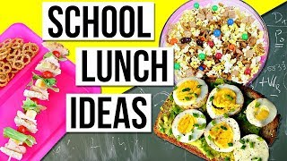 School Lunch & Snack Ideas! DIY Back To School Lunches!