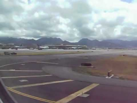 Hawaiian Airlines Landing at Honolulu International Airport, Hawaii, United States