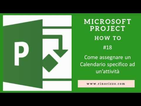 Calendario Attivita.18 Come Assegnare Un Calendario Specifico Ad Un Attivita Di Microsoft Project