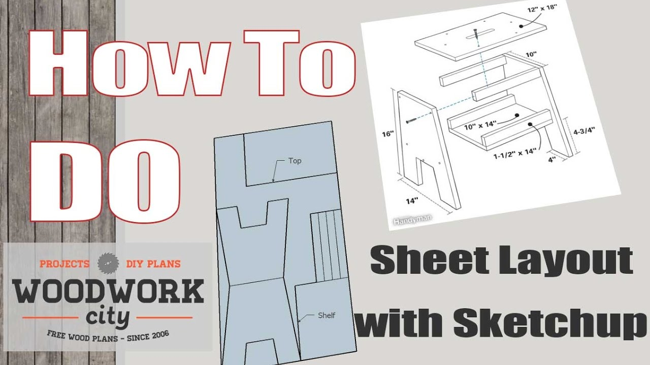 Sketchup plywood Layout How-to - YouTube