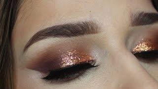 warm copper smokey eye   makeup tutorial   jenn lee