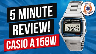 5 Minute Watch Review - Casio A158WA-1- 1980's Icon!