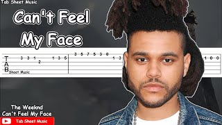 The Weeknd   Can39t Feel My Face Guitar Tutorial