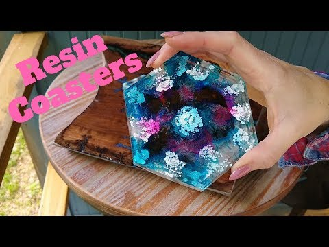 How To Make An Epoxy Resin Coaster with Alcohol Ink DIY