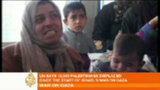 Gazans flee homes and seek refuge in UN schools - 05 Jan 09 thumbnail
