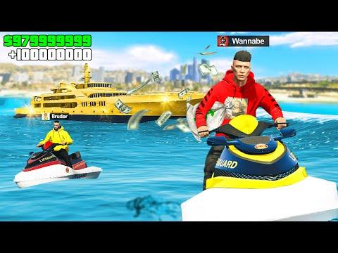 ÜBERFALL auf 90.000.000$ LUXUS YACHT in GTA 5 RP!