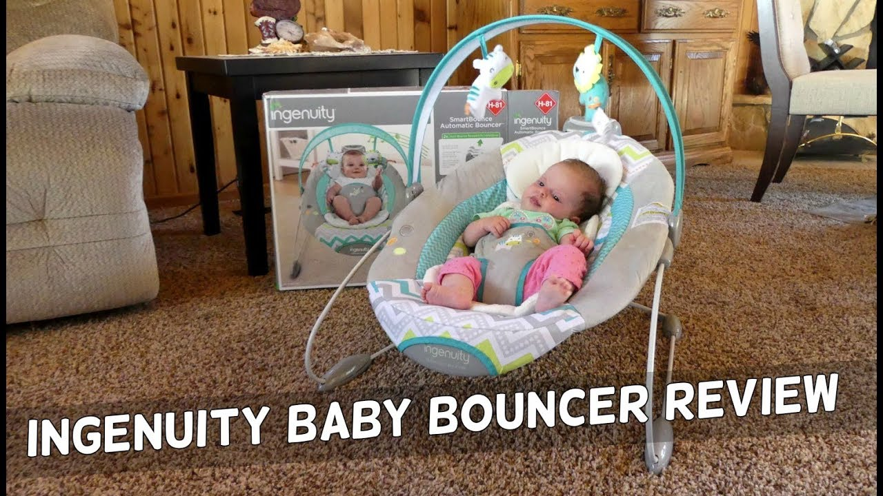 c9d6d3150786 Ingenuity Automatic Baby Bouncer Product Review - YouTube