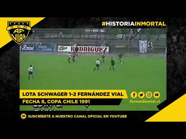 Lota Schwager 1-2 Fernández Vial | Copa Chile 1991