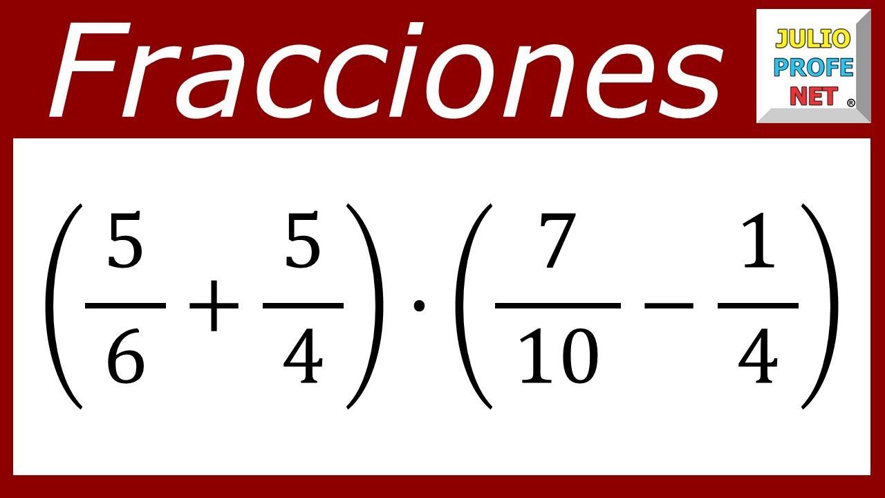 OPERACIONES COMBINADAS CON FRACCIONARIOS - Ejercicio 4 - YouTube