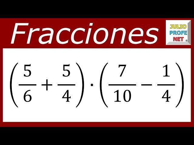 OPERACIONES COMBINADAS CON FRACCIONARIOS - Ejercicio 3