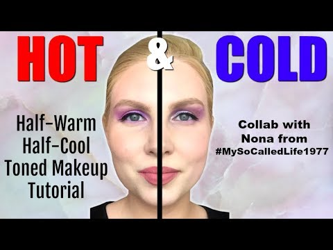 Half Warm/ Half Cool Tutorial | Hot & Cold | Collab with Nona! thumbnail