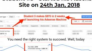Google adsense machine. make recurring monthly income