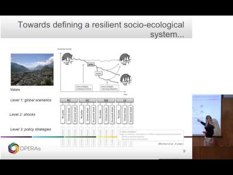 Increasing social ecological resilience in mountain regions. Talk by Adrienne Grêt-Regamey