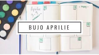 Organizarea lunii aprilie Bullet Journal