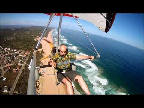 Go Pro Trikesaurus flight over the Wilderness coastline ,South Africa March 2012