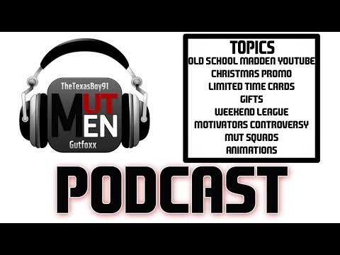 The MUT Men Madden Podcast #91 - xRyan915 on the Christmas Promo and MUT Squads!