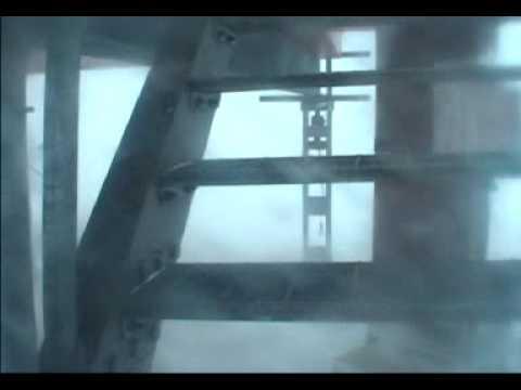 Antarctic blizzard at Halley Base