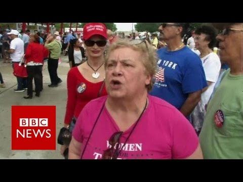Donald Trump's female supporters who defend him - BBC News