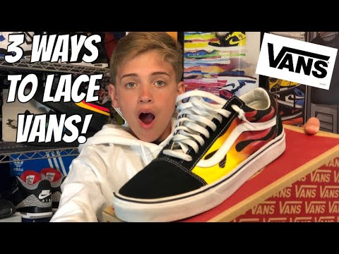 1a1e8d5ec6 HOW TO LACE VANS OLD SKOOL (2018) - YouTube