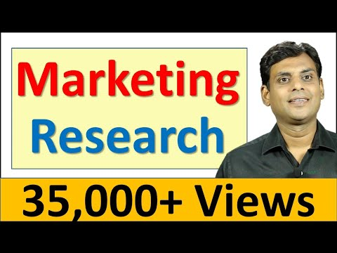 Marketing Research - Marketing Management Video Lecture by Prof. Vijay Prakash Anand