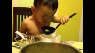True Blue Cantonese Boy Slurping Soup