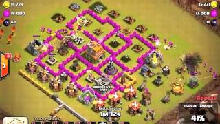 First Clash of Clans Video! SPX tough 99% 1 star attack!
