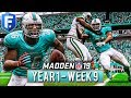 Madden 19 Dolphins Franchise Year 1 - Week 9 vs Jets   Ep.10