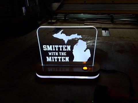 LED Edge Lit Acrylic Signs On The CNC