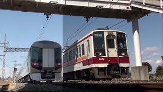 【同時通過ならず】東武6050系区間快速・東武500系リバティ 柳生駅通過