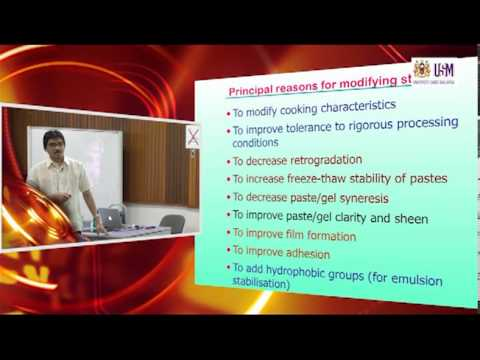 IMK421: Lecture 7 (25th October 2012) —Starch Modification