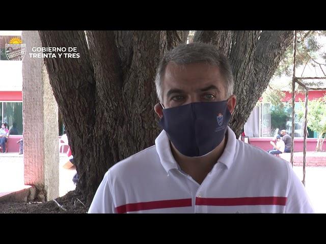 EL INTENDENTE DEPARTAMENTAL GESTIONA MAS CENTROS VACUNATORIOS CONTRA EL COVID  PARA EL DEPARTAMENTO