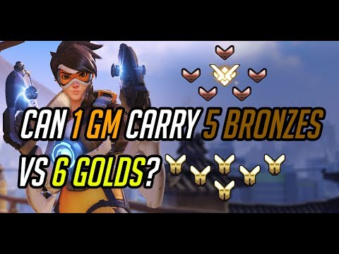 CAN ONE GRANDMASTER CARRY FIVE BRONZE PLAYERS VS SIX GOLDS? - COMMUNICATION INCLUDED!