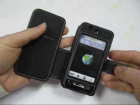 PDair Leather Case for Samsung Behold SGH-T919 - Book Type (Black)