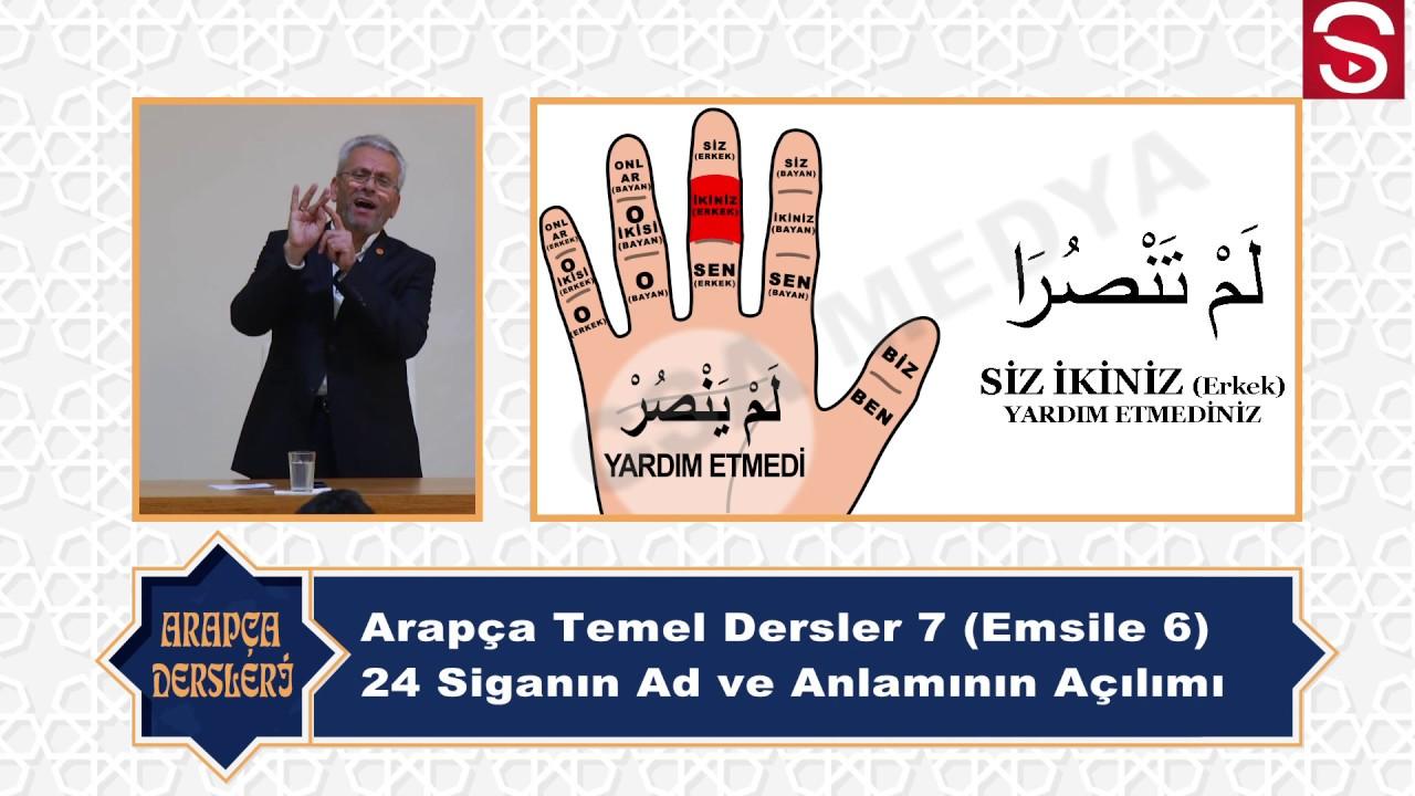 Arapça Temel Dersleri 8 (Emsile 6 Bölüm) 24 Siganın Açılımı - دورات اللغة العربية (Kemal Ayyıldız)