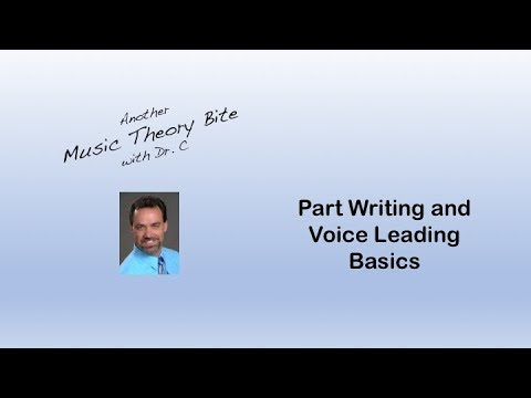Basic Part Writing and Voice Leading