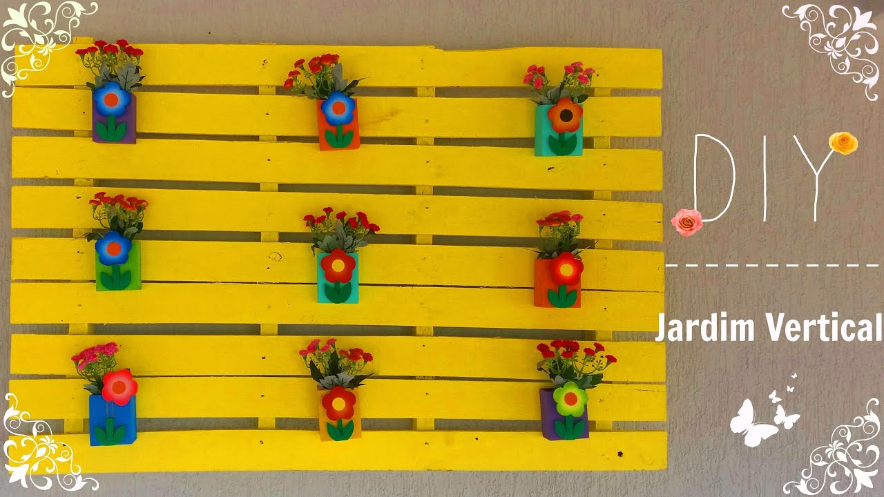 Super DIY: Jardim vertical com pallet - YouTube OB28