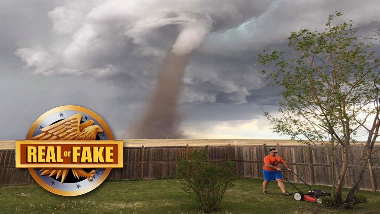 Man Mows Lawn During Tornado Real Or Fake Youtube