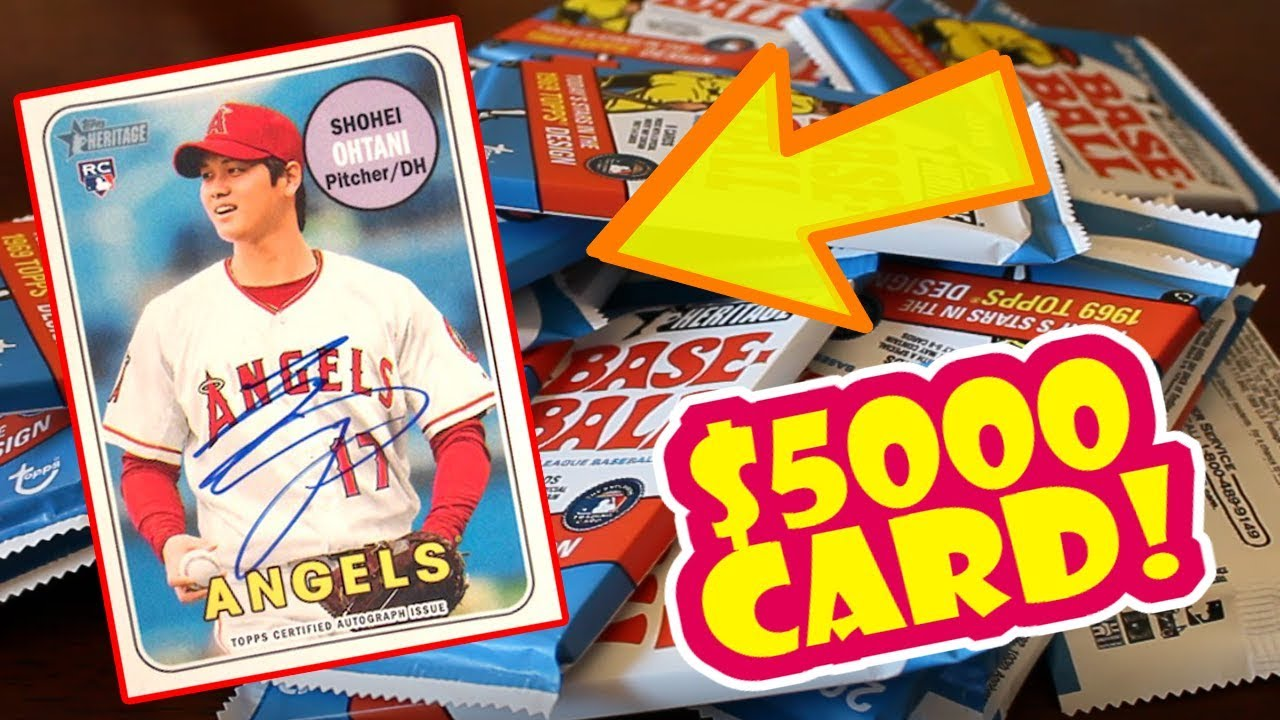 5000 Shohei Ohtani Autograph 2018 Topps Heritage Pack Opening