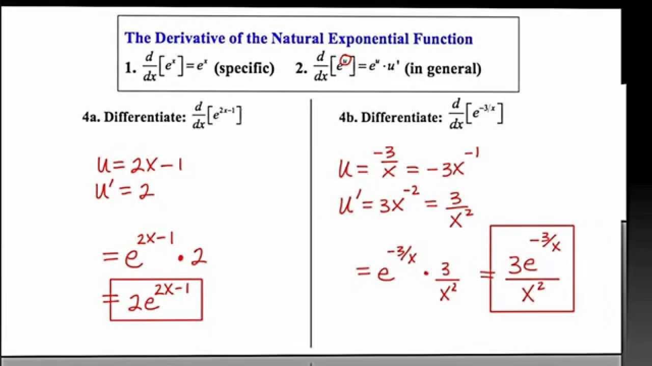 MathCamp321: Calculus - Derivative of an Exponential ...
