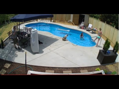 Pool Installation time lapse In 6 minutes