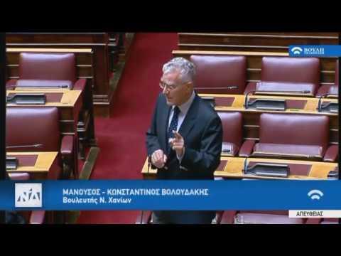 Βολουδάκης στην Επιτροπή Οικονομικών της Βουλής για το Σ/Ν για τις μικροχρηματοδοτήσεις