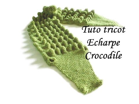 tuto tricot echarpe crocodile au tricot facile youtube. Black Bedroom Furniture Sets. Home Design Ideas