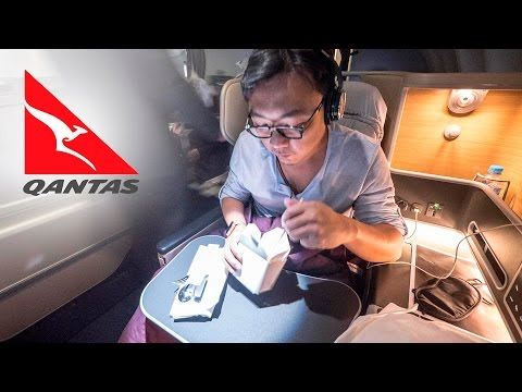 SUPERTRAVELME - Dennis Flies Qantas on Business Class from Singapore to Sydney