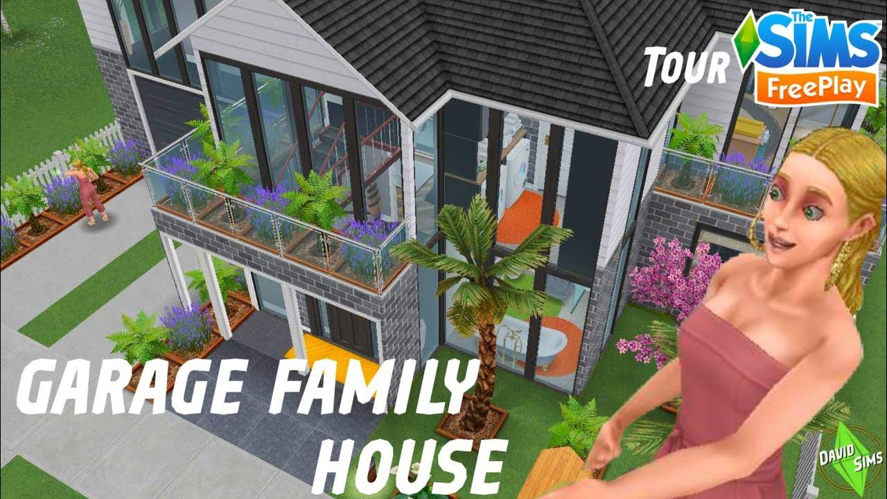 The Sims Freeplay 🚘Garage Family House👪 -Tour - YouTube