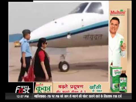 4 देशों के दौरे के लिए रवाना हुई विदेशमंत्री सुषमा स्वराज।